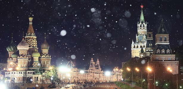 Moscow Kremlin in December Holidays by Private Jet